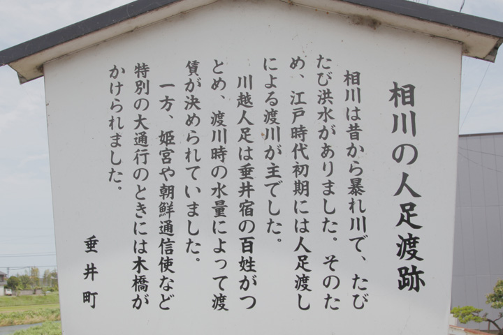 相川の人足渡跡