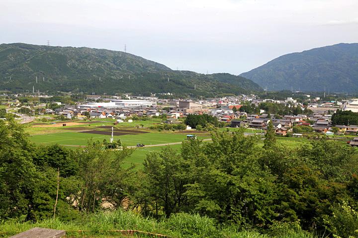 石田三成陣地から見た決戦場