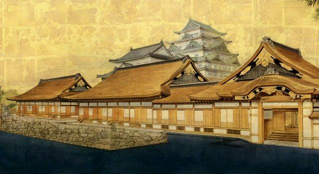 名古屋城と本丸御殿  画像提供:名古屋城総合事務所