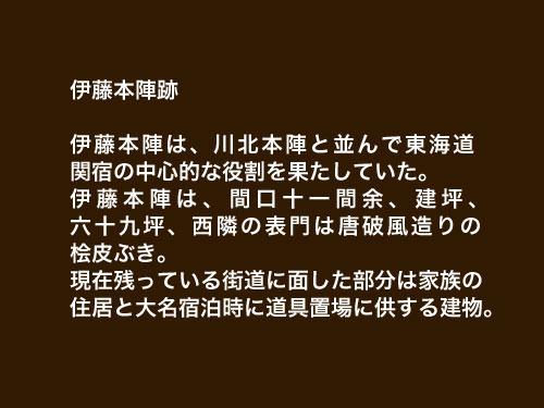 伊藤本陣跡解説