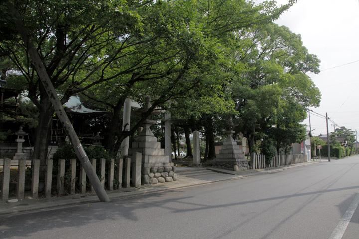 国玉神社前佐屋街道