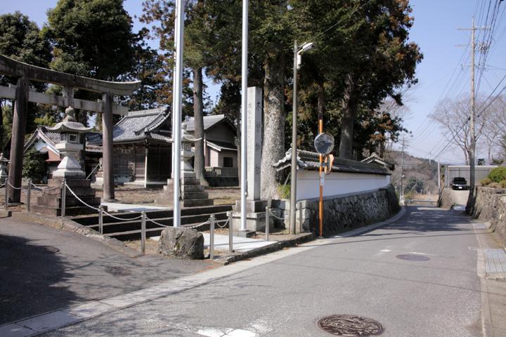 木曽神社と伊勢街道