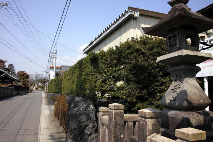 秋葉神社付近の伊勢街道