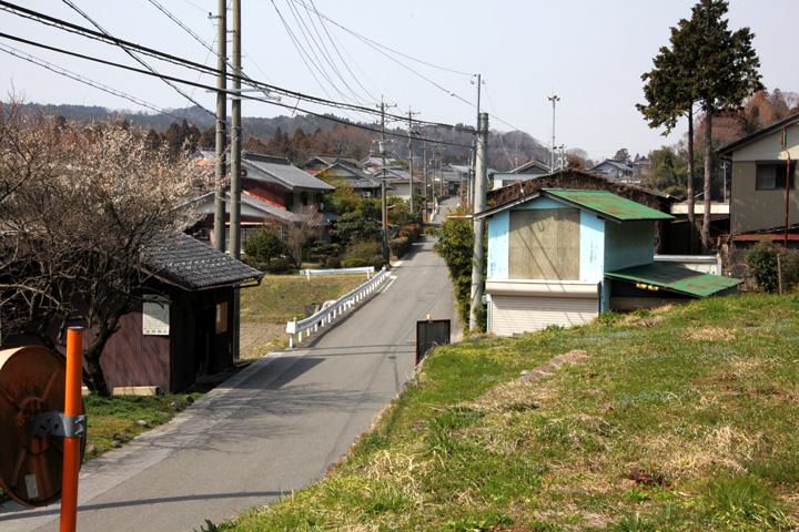 牧田宿西入口付近