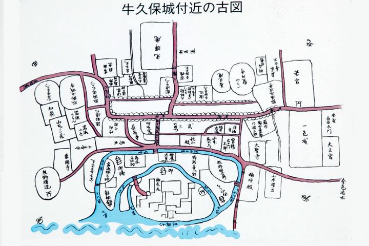 牛久保城下略図