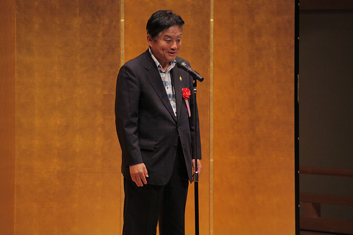 主催者挨拶する河村たかし名古屋市長