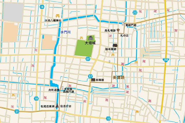 大垣城周辺地図