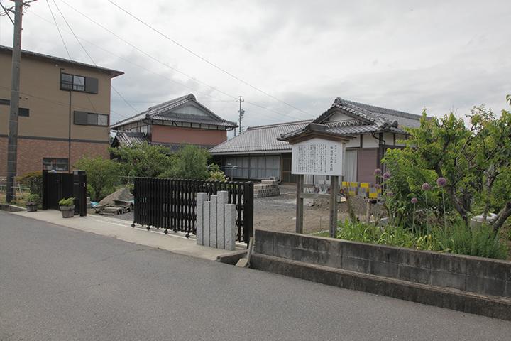 梅田竹次郎邸跡 横光利一の少年期の住居