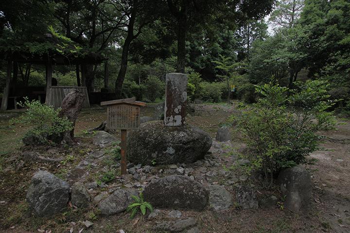 松尾芭蕉の祖福地氏の城跡に芭蕉公園が造られた