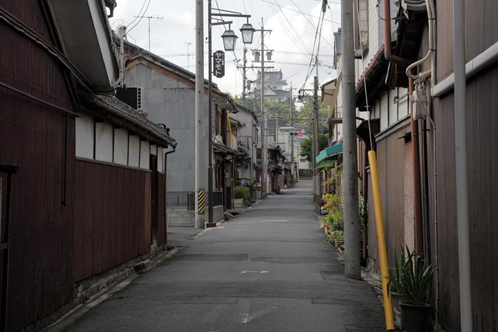 上野中町付近の路地