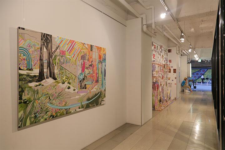 現代美術展 企画コンペ 水野里奈《シュヴァルの理想宮を》ARTISANビル 1階内壁