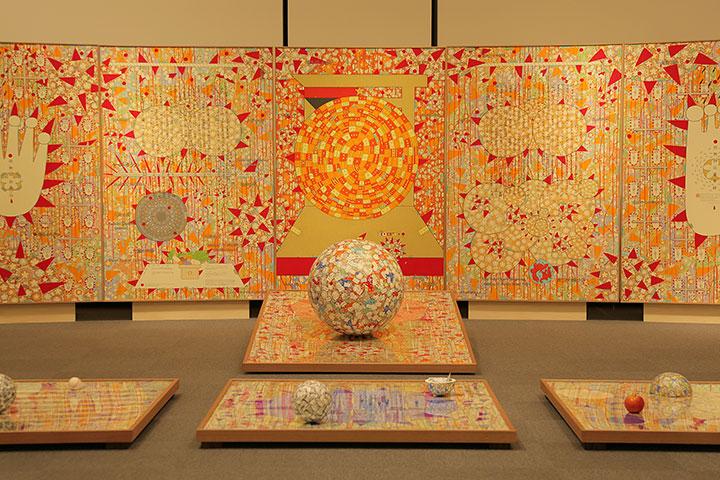 岡本信治郎《ころがるさくら・東京大空襲》愛知県美術館10階