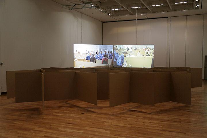 アーノウト・ミック《段ボールの壁》愛知県美術館10階
