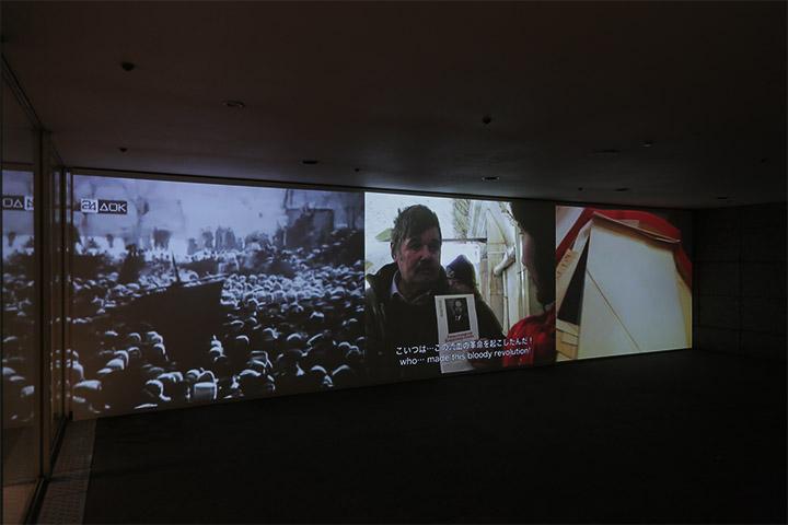 丹羽良徳《モスクワのアパートメントでウラジーミル・レーニンを捜す》愛知芸術文化センター地下2階南玄関階段脇