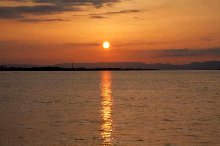 二見海岸からの夕景