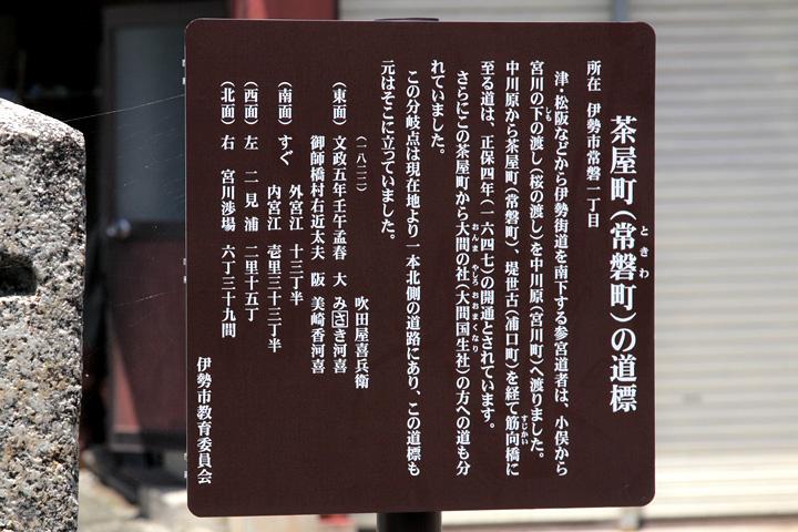 茶屋町の道標案内板