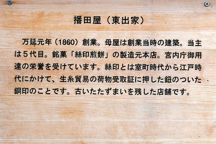 播田屋(東出家)案内板