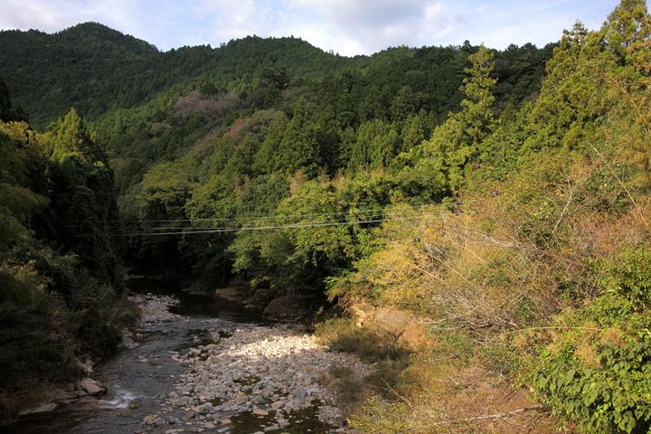 大千瀬川上流の設楽城跡