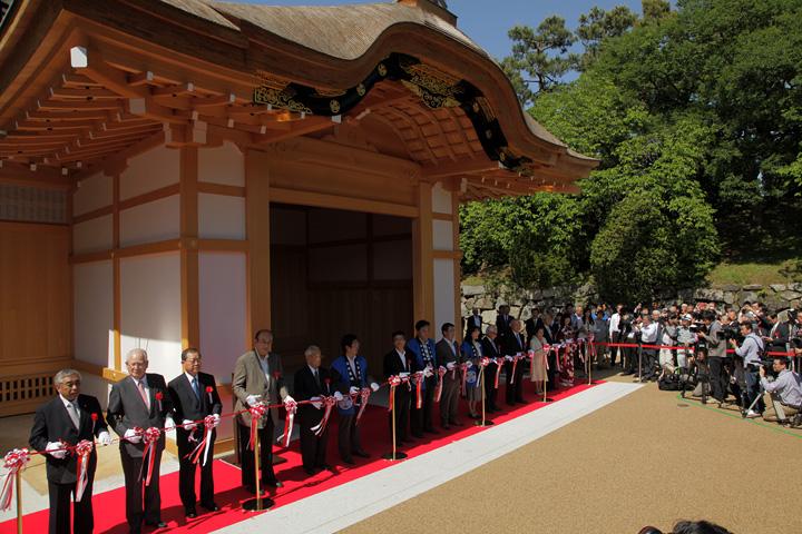 本丸御殿の玄関・表書院完成記念式典 テープカット