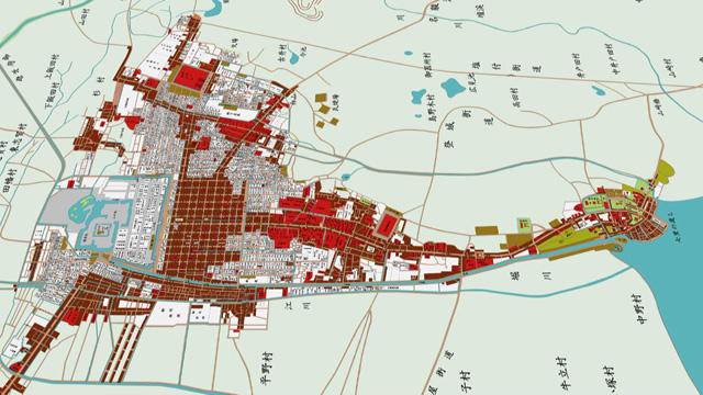 江戸時代後期の名古屋城下図