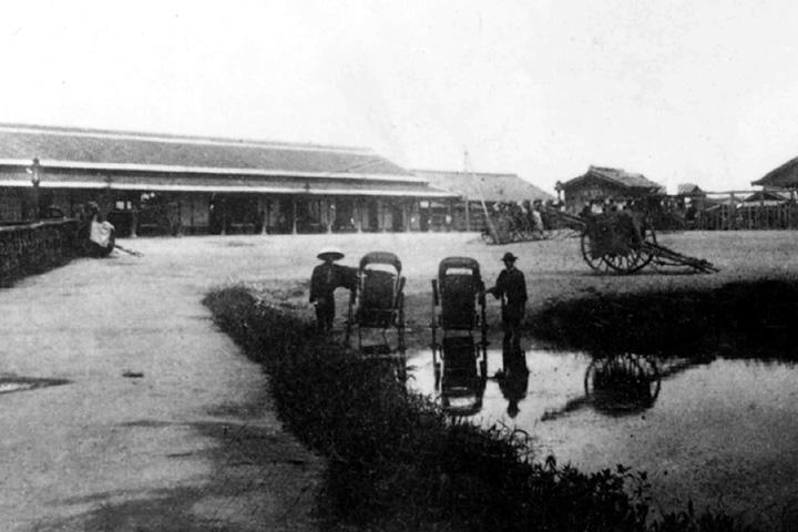 開業当時の名古屋駅(明治19年笹島)