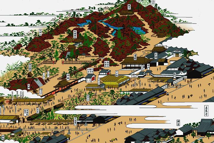 本町通と清寿院