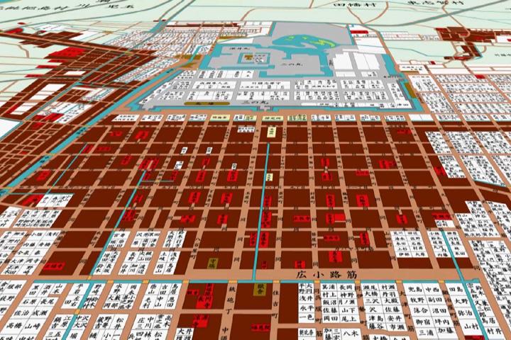 江戸時代後期の碁盤割地図