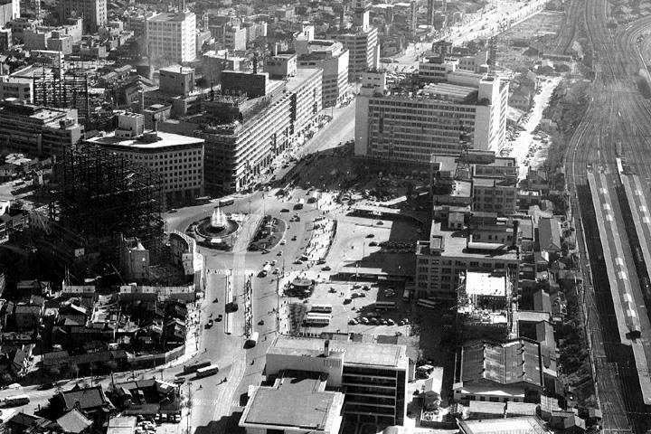 名古屋駅前(昭和30年代中頃)