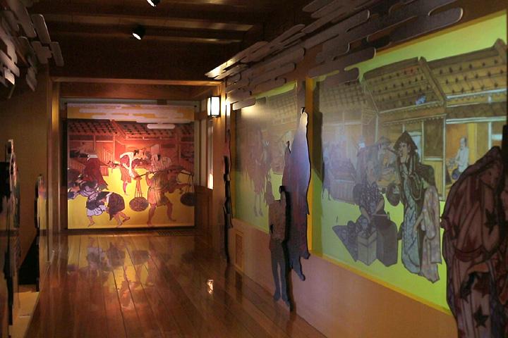 2階展示 町並み体験