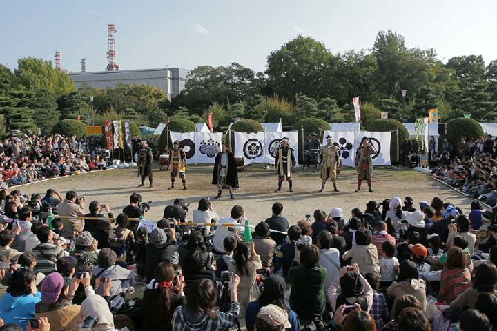 名古屋おもてなし武将隊四周年祭演舞(名古屋城西之丸)