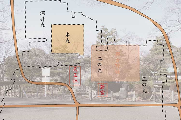 名古屋城築城前の位置