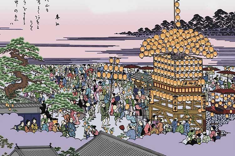 天王祭り図(尾張名所図会)
