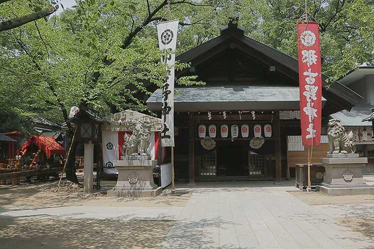 那古野神社拝殿 16日朝祭当日