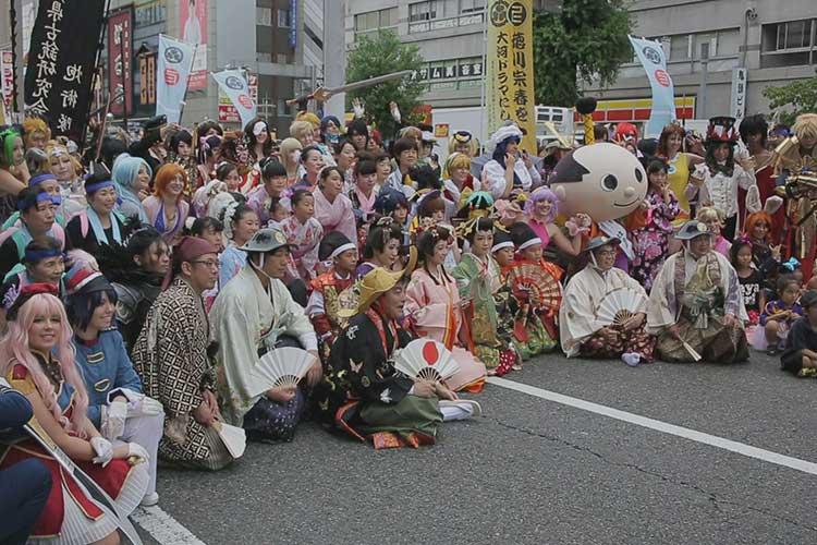 徳川宗春道中 錦通りレッドカーペット
