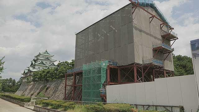 西南隅櫓保存修理工事現場見学会
