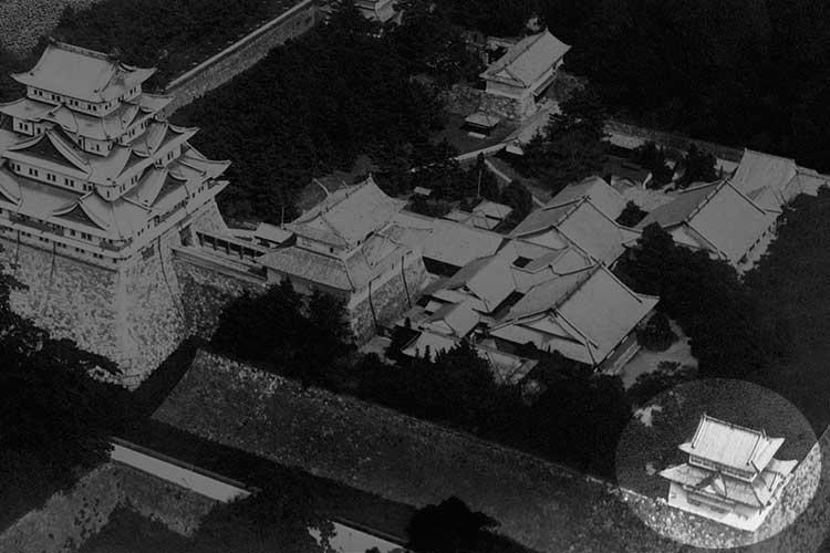 焼失前の名古屋城と西南隅櫓