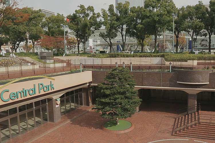 もちの木広場(セントラルパーク南端)
