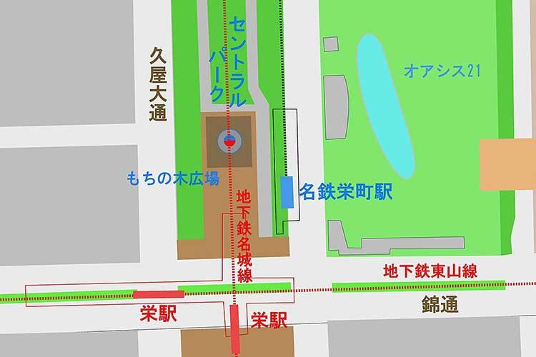 もちの木広場周辺地図